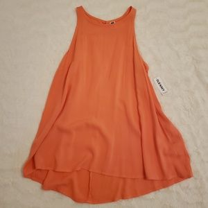 NWT Old Navy Flowy Coral Sleeveless Blouse